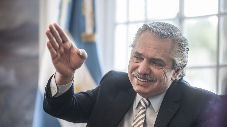 El presidente Alberto Fernández se mostró contento por el resultado en Bolivia.