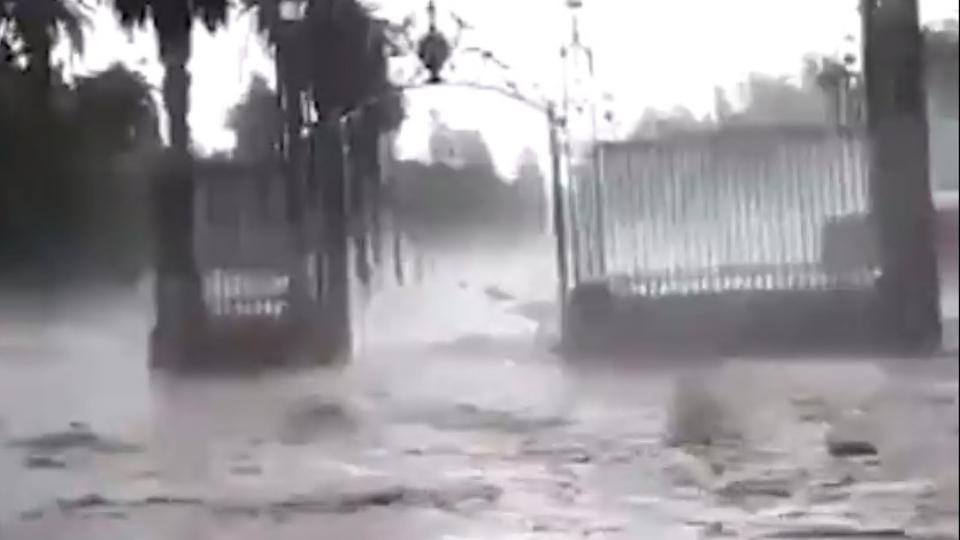 Las impactantes imágenes del granizo e inundación en Mendoza