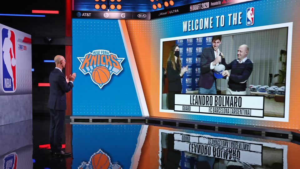 El argentino Bolmaro fue elegido por los Knicks y traspasado a Minnesota