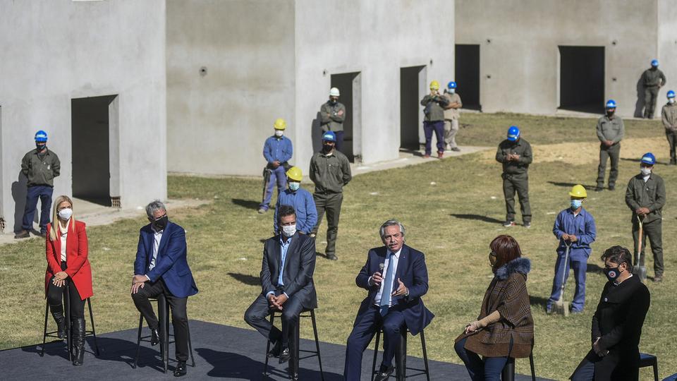 Los dirigentes del Frente de Todos, juntos.
