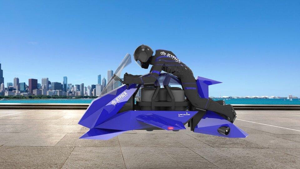 La moto voladora The Speeder pesa solamente 104KG y puede llevar un piloto de hasta 108kg.