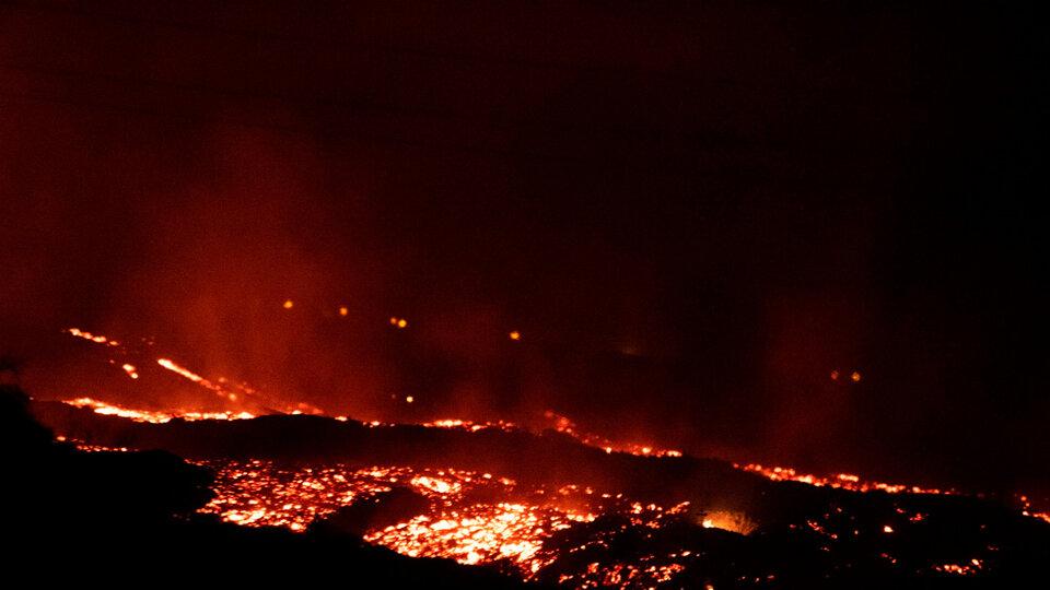 La erupción del volcán Cumbre Vieja en La Palma continúa y son cada vez más las zonas afectadas.