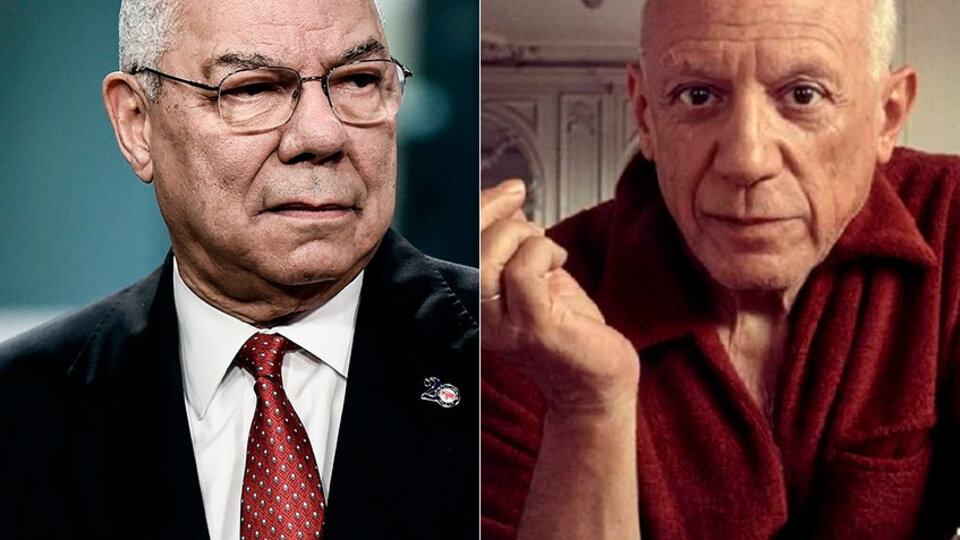 Pablo Picasso tiene palabras para Colin Powell desde el otro lado de la muerte.