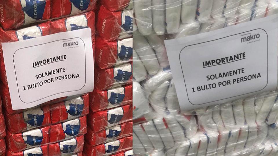 Los mercados mayoristas limitan la entrega de productos. Falta mercadería de reposición.
