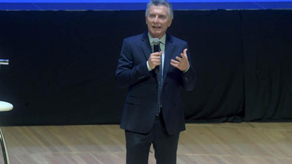 Macri, durante la reunión de gabinete ampliado en el CCK.