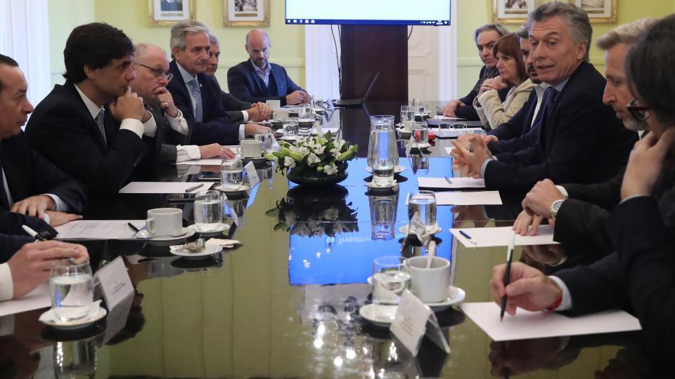 Macri reunió a su gabinete a media mañana.