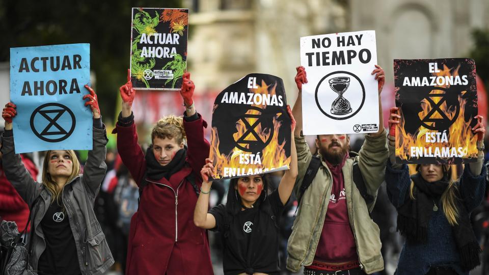 Incendio en el Amazonas Todo el mundo marcha contra Bolsonaro
