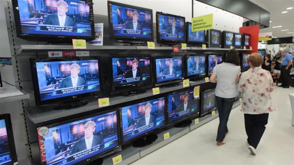 La producción de televisores fue las más afectadas.