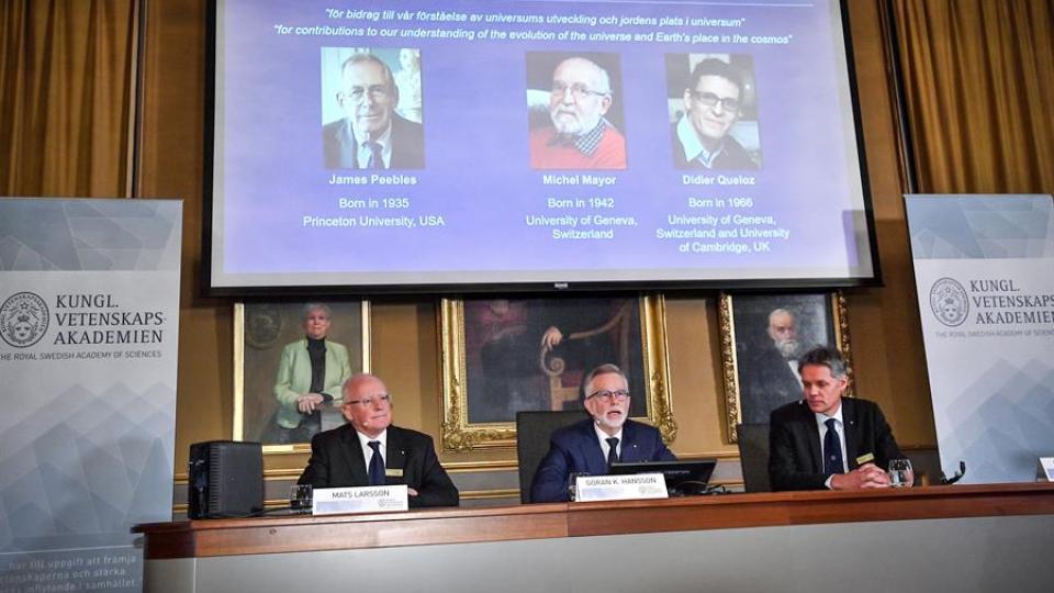 Nobel de Física para científicos que investigan el universo