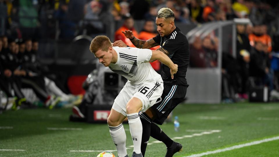 Argentina reaccionó y empató con Alemania en Dortmund