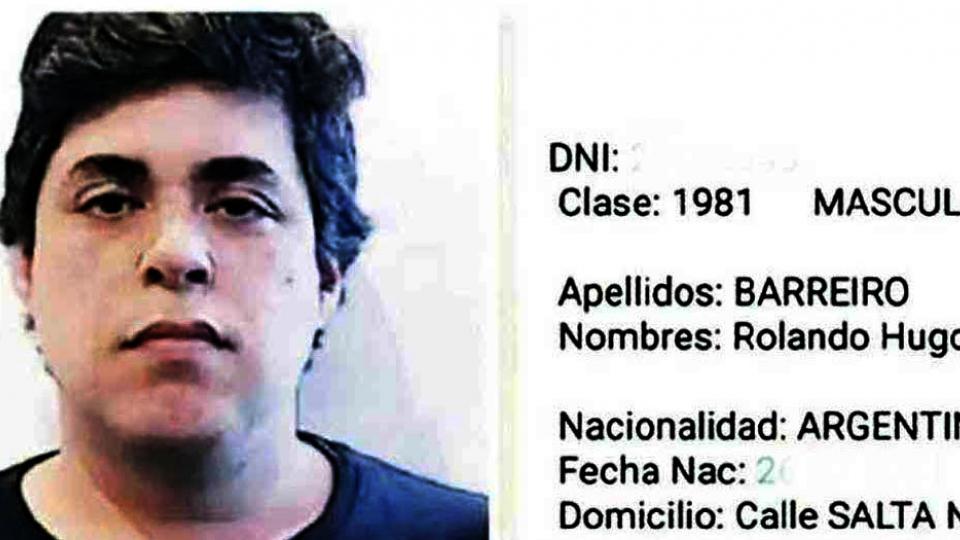 Rolando Hugo Barreiro, ex espía de la SFI y miembro de la banda de D'Alessio.