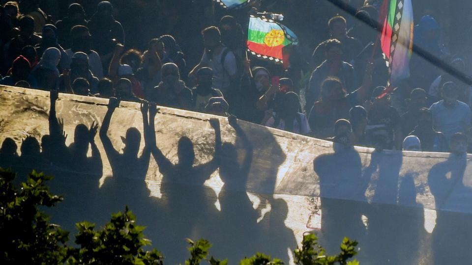 Incidentes y heridos en la movilización en Santiago de Chile