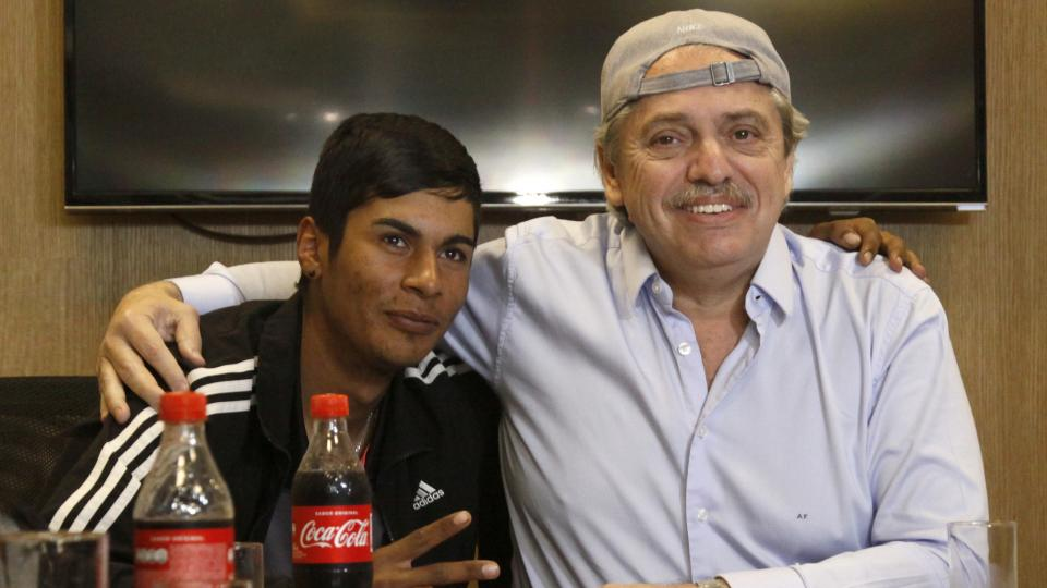Alberto Fernández recibió a Braian