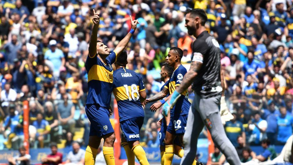 Boca madrugó, goleó a Arsenal y es puntero de la Superliga