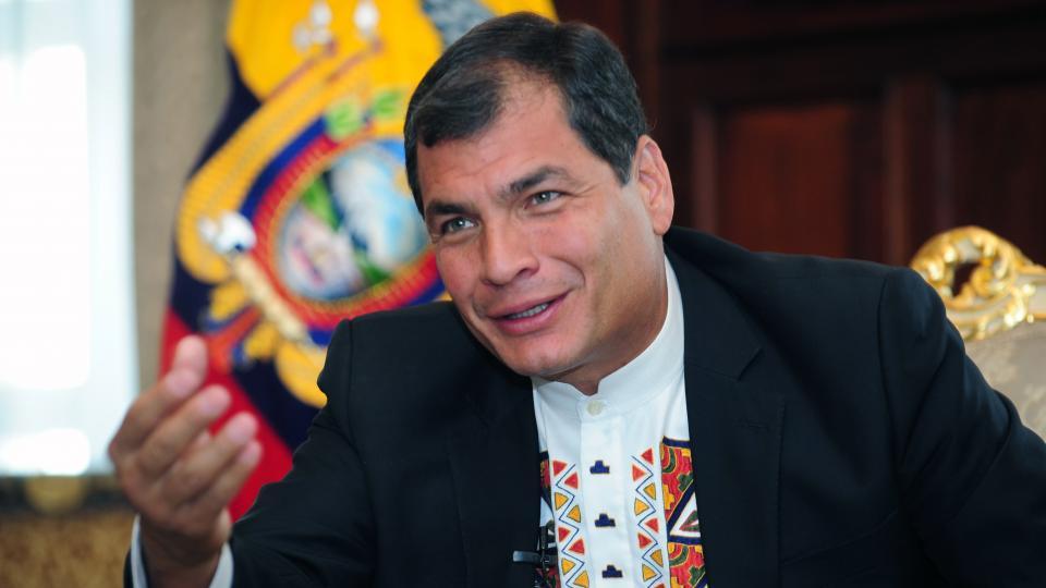 Rafael Correa y Alberto Fernández, juntos en México
