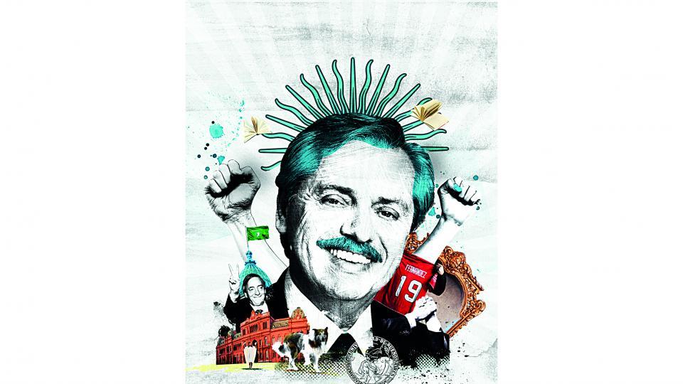Alberto Fernández en la revista Caras y Caretas