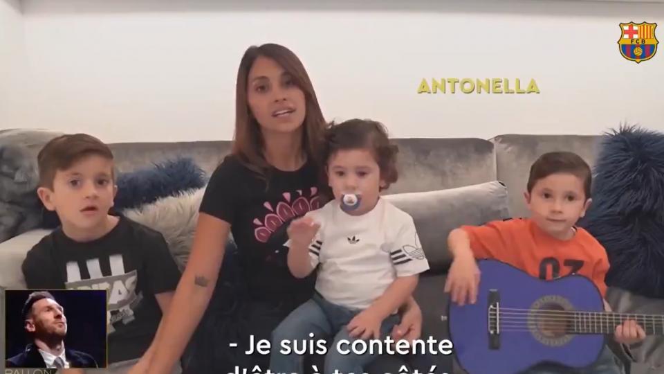 Messi: El emocionante video que le regaló su familia