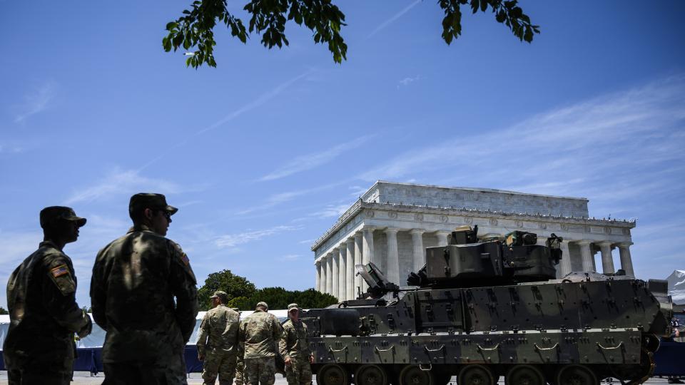 Los tanques serán parte de la celebración del 4 de julio por primera vez desde el gobierno de Nixon