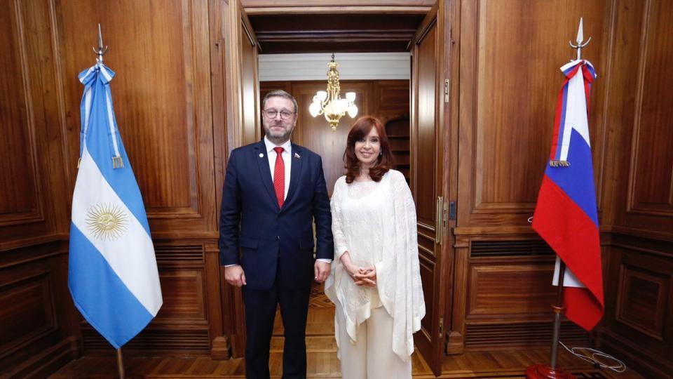 Primer acto de Cristina Kirchner como vicepresidenta