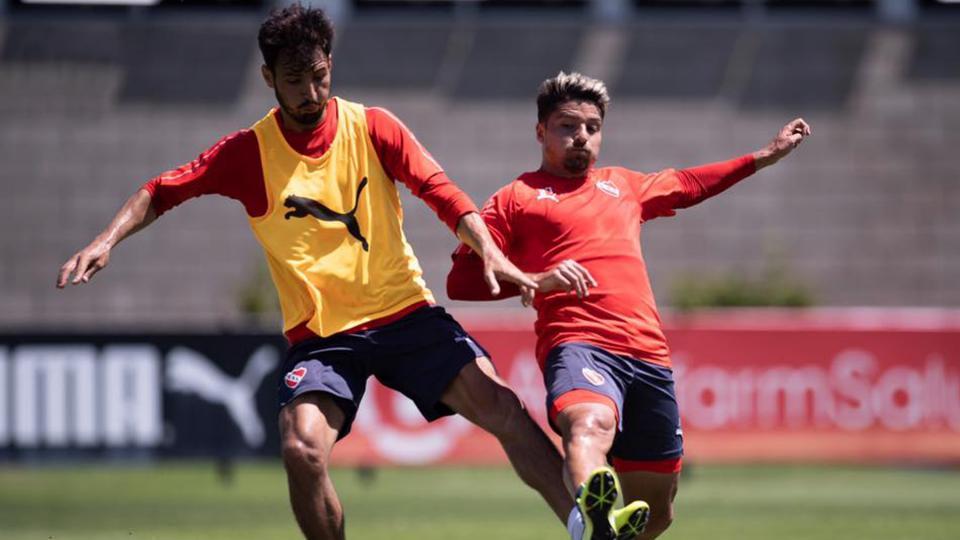 Independiente: los jugadores practicaron en Villa Domínico