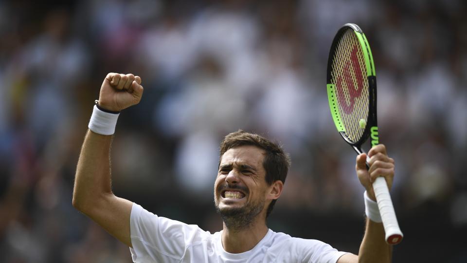 Guido Pella, en el mejor año de su carrera, le ganó a Kevin Anderson y está en octavos de final de Wimbledon.