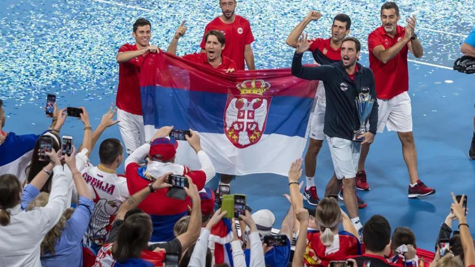 Copa ATP: Serbia le ganó a España y se adjudicó la primera edición del torneo