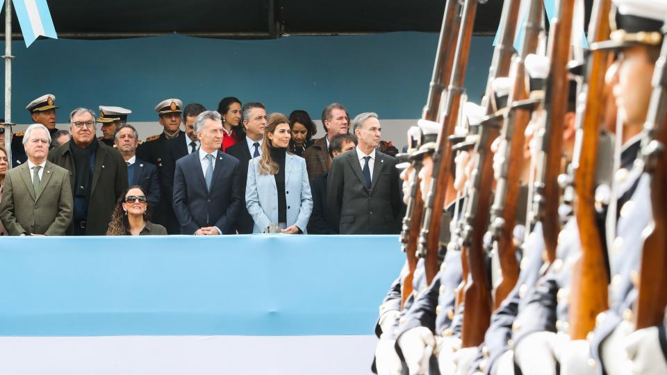 Mauricio Macri en el desfile  del 9 de  Julio.