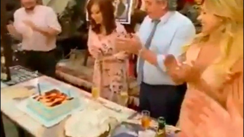 El festejo de cumpleaños de Cristina Kirchner con A...  | Página12