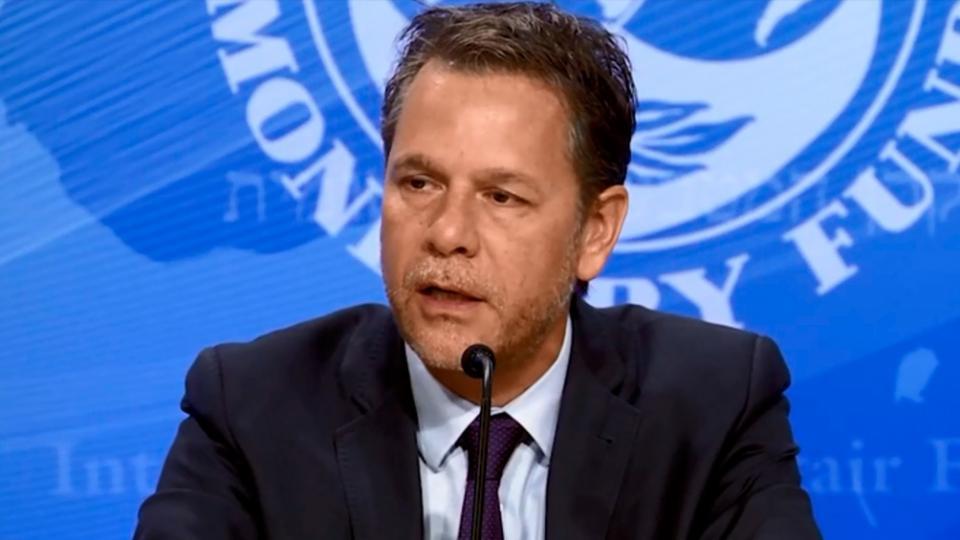 Luis Cubeddu, Jefe de Misión del FMI para Argentina.