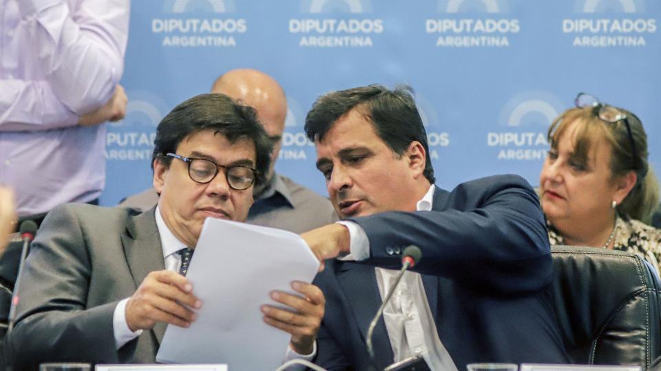 El ministro Claudio Moroni, durante su presentación en Diputados.