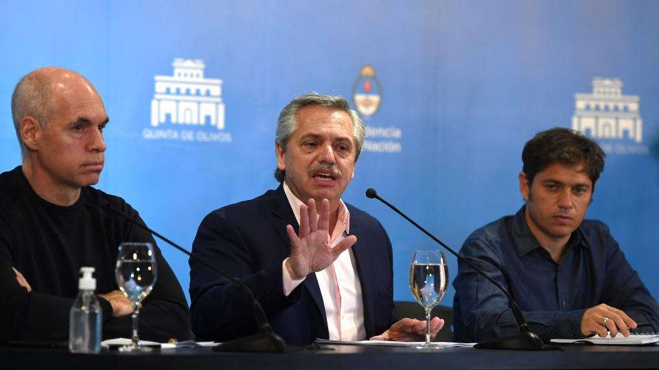 Alberto Fernández anunció medidas contra el coronav...  | Página12