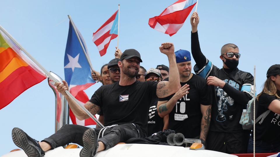 Ricky Martin, Residente y Bad Bunny celebraron la renuncia del gobernador de Puerto Rico.