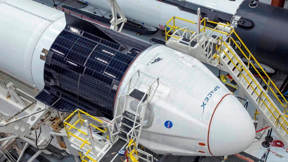 SpaceX suspendió su primera misión tripulada al esp...  | Página12