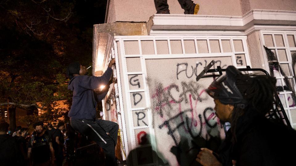 Estados Unidos: Las protestas llegaron hasta la Cas...  | Página12