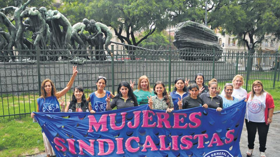 Las mujeres sindicalistas que convocan al paro de mujeres del 8 de marzo, en el marco de la convocatoria del colectivo Ni Una Menos.
