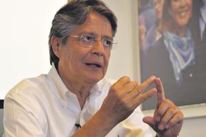 Lasso enfrentará en las urnas el domingo al candidato oficialista Lenín Moreno. (Fuente: AFP)
