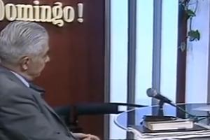 Mario Pereyra, cara a cara con Menéndez, en una entrevista que lejos estuvo de ser jugada. (Fuente: Captura de YouTube)