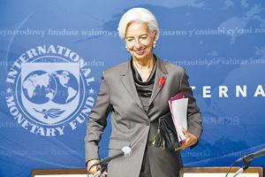 Christine Lagarde, titular del FMI, futura titular del Banco Central Europeo. Ella se va, el programa de ajuste se queda. (Fuente: AFP)