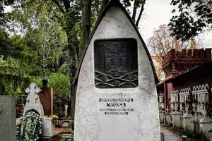 La tumba de Chejov en el cementerio de Novodevichi (Moscú).