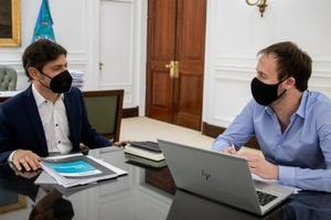 Axel KIcillof y Pablo López, gobernador y ministro de Economía bonaerenses.