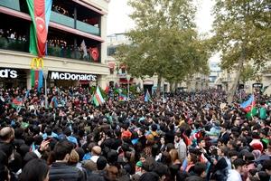 Celebración en Baku, capital de Azerbaiyán. (Fuente: AFP)