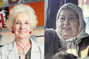 Las dirigentas Estela de Carlotto y Hebe de Bonafini.
