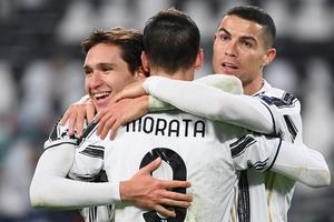 El festejo de Juventus, que llegó a la tercera posición de la Serie A (Fuente: AFP)