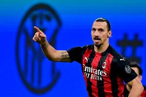 Zlatan Ibrahimovic, figura y líder del Milan puntero. (Fuente: AFP)