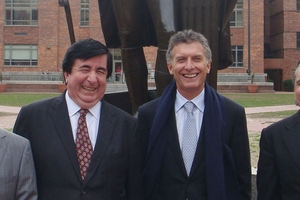 Jaime Durán Barba y Mauricio Macri, risueños, en una imagen de archivo. (Fuente: NA)