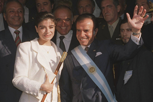 Carlos Saúl Menem, presidente de la Nación en dos periodos de 1989 a 1999. (Fuente: NA)