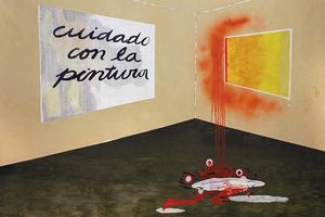 """Alejandra Seeber, """"Cuidado con la pintura"""""""