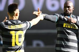 Lautaro y Lukaku, la dupla letal del Inter en la ofensiva. (Fuente: Prensa Inter)