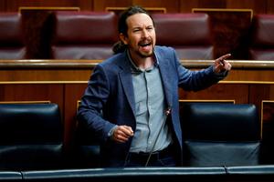 Pablo Iglesias busca frenar a la ultraderecha en Madrid. (Fuente: AFP)