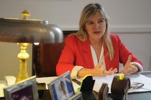 Cristina Álvarez Rodríguez en su despacho de la Cámara de Diputados. (Fuente: Guadalupe Lombardo)